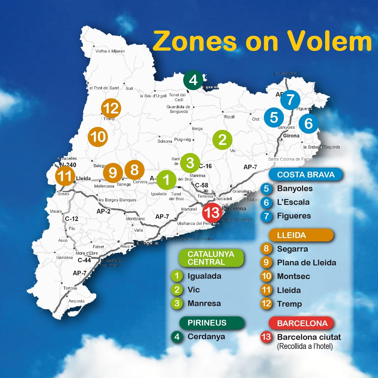 zones on volem