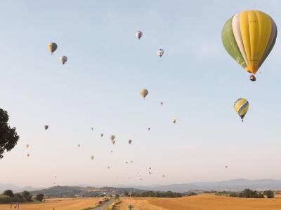 Balloon festival in Igualada